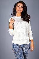 Теплый и толстый женский свитер