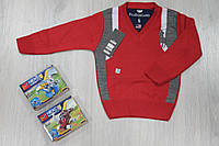 Детская кофта темно-красного цвета на мальчика, детский реглан пуловер  тм lacoste,  возраст 5-9 лет, Турция