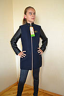 Куртка-пальто на девочку в школу128-152