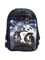"""Вместительный рюкзак """"Гонки мотоцикл"""" для мальчика. Школьный рюкзак. Удобный ранец. Купить онлайн. Код: КДН515"""