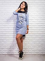 Красивое платье с кожаной кокеткой, фото 1