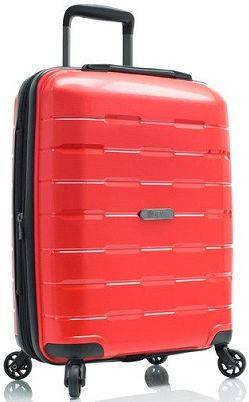 Компактный пластиковый 4-колесный чемодан 38 л. Heys Zeus (S) Red, 922969 красный