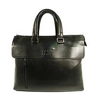 Портфель-сумка для документов, папка мужская кожзам черная Mont Blanc 9806-2