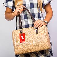 Бежевая классическая сумка женская лаковая №1342km