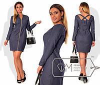 Платья джинсовое  большого размера Фабрика моды