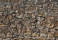 Флизелиновые фотообои Каменная стена   размер 368 х 254 см