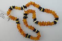 Нарядные бусы из натурального янтаря 3-х цветов