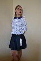 Блузка школьная пальмочки 116-146