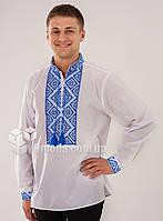 Вышиванка мужская Федор синяя