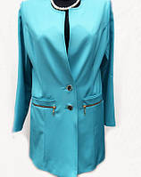 Удлиненный женский пиджак-кардиган  6370