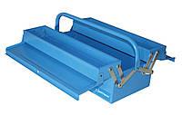 Ящик инструментальный, раскладной, 2 уровня с 1 ручкой