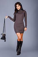 Изумительное теплое вязаное платье, фото 1