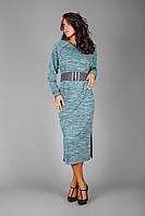 Трикотажное платье с махровой изнаночной стороной, фото 1