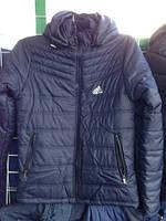 Мужская демисезонная куртка ветровка с капюшоном Adidas