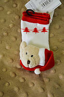 Детские зимние носки-погремушки Мишка
