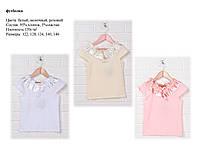 Блуза для девочки с коротким рукавом Лида Размер 122 - 146 см