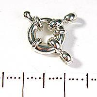 [15 мм] Замок для бус и браслетов бублик на 1 нить маленький