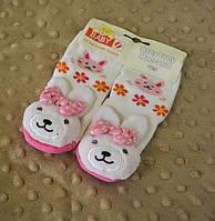 Детские зимние носки-погремушки Зайчик
