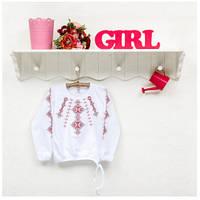 Блузка-вышиванка детская ТМ Фламинго, интерлок (артикул 729-204)