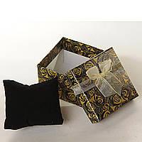 [9/9/6 см] Подарочная коробочка для украшений  с подушечкой Розы Сердца большая 6 шт.