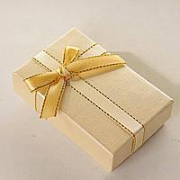 [8/5/3 см] Подарочная коробочка для для сережек и колец прямоугольная Классика средняя 24 шт.