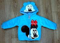 """Детская курточка для девочки демисезон """"Минни Маус"""", рост 90 и 100 см"""