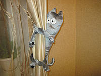 Подхват для штор кот Шкод ручная работа