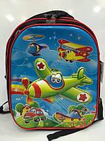 """Рюкзак """"Зеленый самолет"""" школьный 1815 детский для мальчиков"""