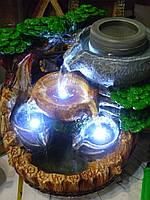 """Фонтан """"Жернова"""" с подсветкой декоративный домашний 25х23 сантиметров"""