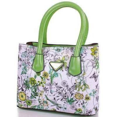 Зеленая женская сумка из качественного кожезаменителя ANNA&LI (АННА И ЛИ) TUP14331-4