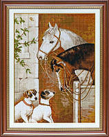 "Набор для вышивания ""В конюшне (The encounter at the horse barn)"" EXPRESSIONS"