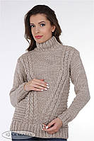 Очень теплый свитер для беременных Alisan, полушерстяной, бежевый