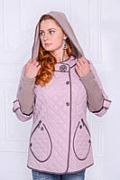 Куртка весенняя женская стёганая (светлая)