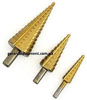 Набор ступенчатых сверл по металлу GEKO G38502