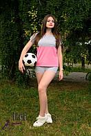 Спортивный костюм летний из трикотажа в сочетании двух  цветов