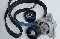 Комплект натяжитель + ролик + ремень генератора на Renault Trafic 06-> 2.5dCi 146 лс(+AC) 7701475193
