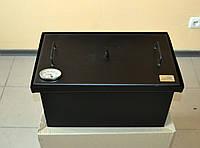 Коптильня с термометром для горячего копчения окрашенная (520х300х280)