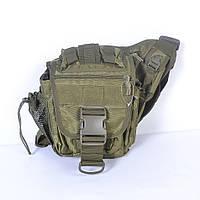 Тактическая сумка на плече - хаки