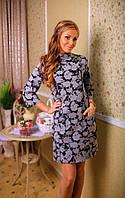 Платье женское  цветочный графический принт, фото 1