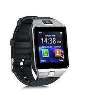 Умные часы Smart watch DZ09 silver+black серебро+черный