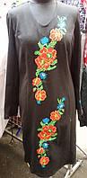 Женское платье вышиванка с цветам и