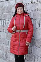 Красное осеннее куртка-пальто 50размер