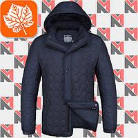 Мужская осенняя куртка Braggart - 1250 синий - белый