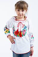 Детская вышиванка с разными цветами