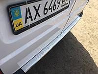 Mercedes Vito 639 Накладка на бампер задний, Omsa Матовая