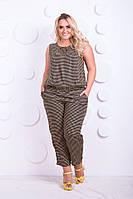 Костюм женский блузка и брюки батал, фото 1