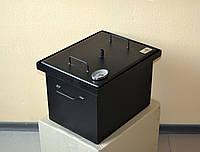 Коптильня с термометром для горячего копчения окрашенная (400х300х280)