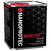 Минеральное трансмиссионное масло NANOPROTEC GEAR OIL 80W-90 GL-4 1L