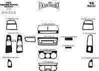 Fiat Punto Grande/EVO 2006+/2011+ накладки на панель цвет алюминий