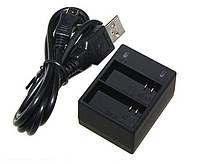 Зарядное устройство для двух аккумуляторов GoPro Hero 3 (акб AHDBT-301, AHDBT-302, AHDBT-201 ) с USB кабелем